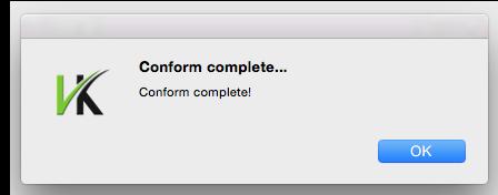 13. Conform Complete